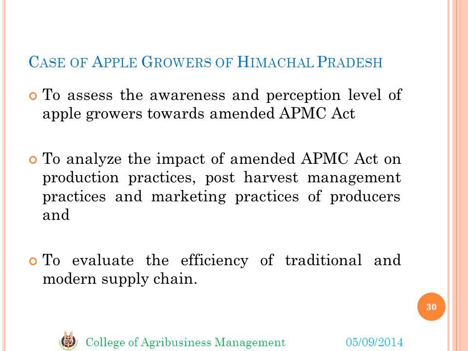 Case of Apple Growers of Himachal Pradesh