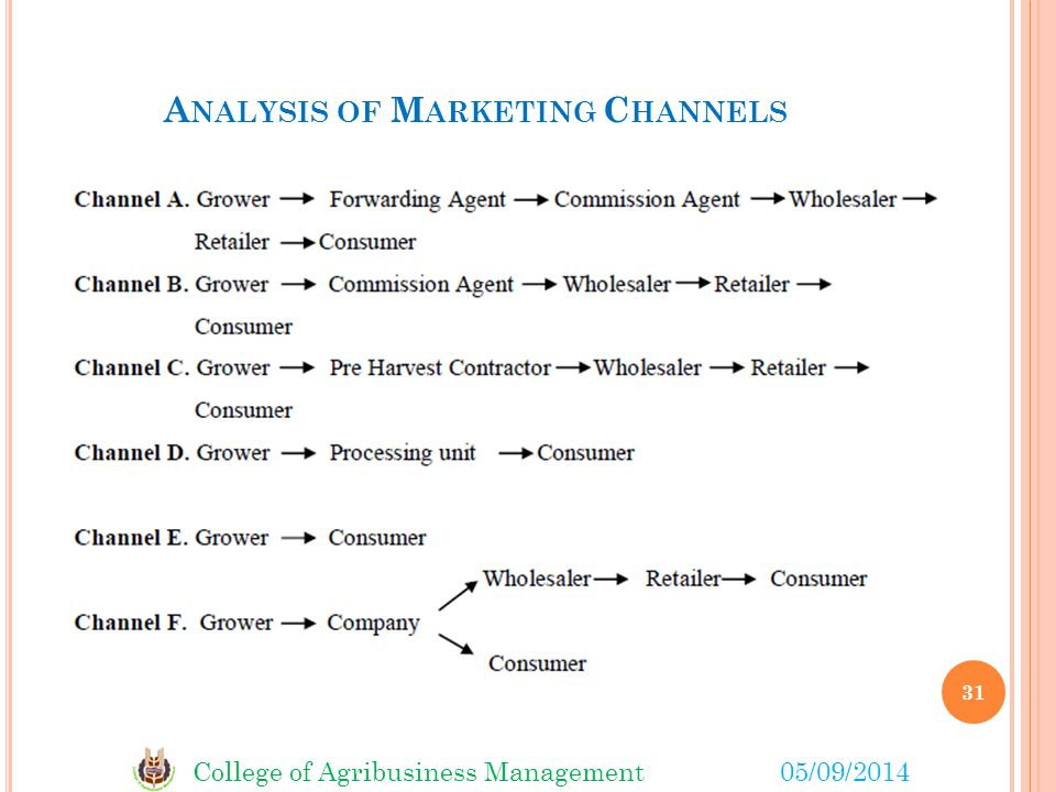 Analysis of Marketing Channels