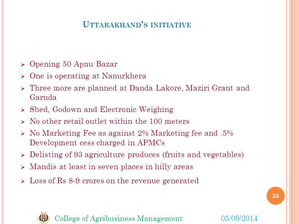 Uttarakhand's initiative