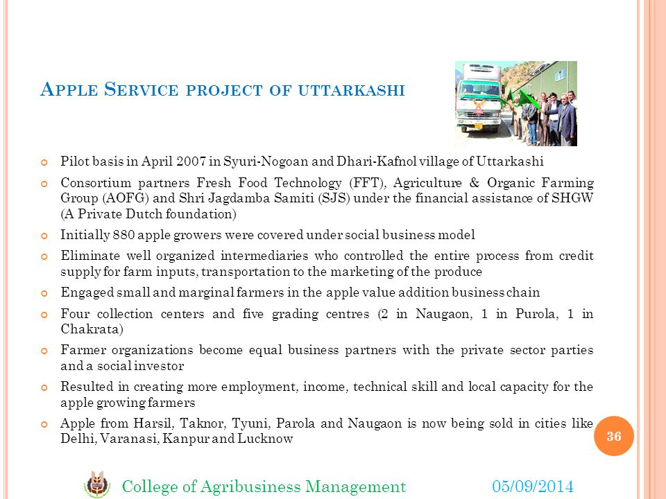 Apple Service project of uttarkashi