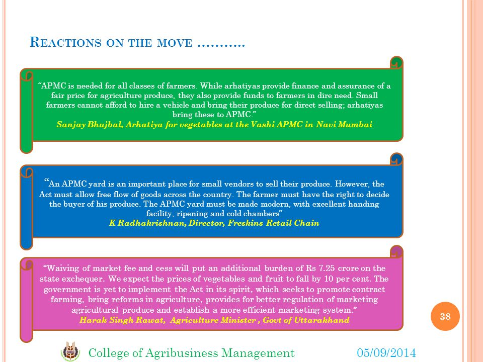 Reactions on the move ………..