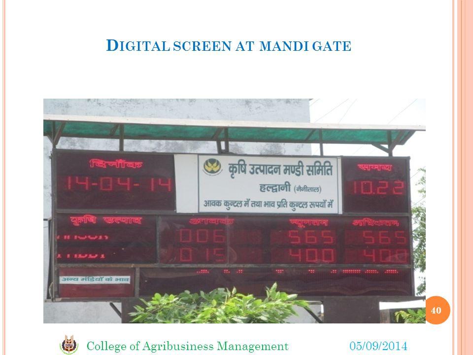 Digital screen at mandi gate