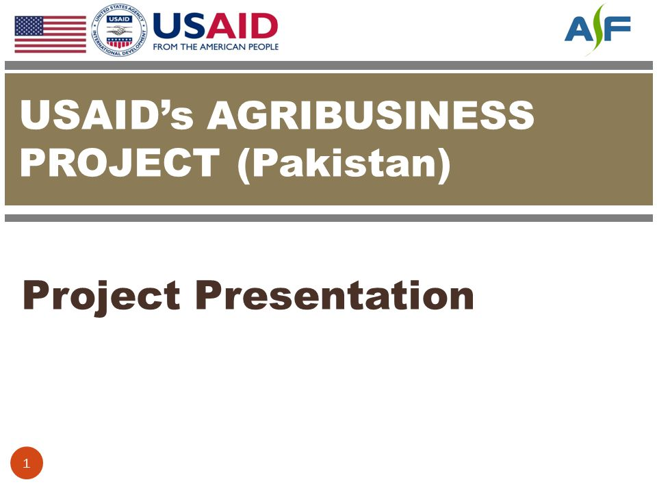 USAID's AGRIBUSINESS PROJECT (Pakistan)