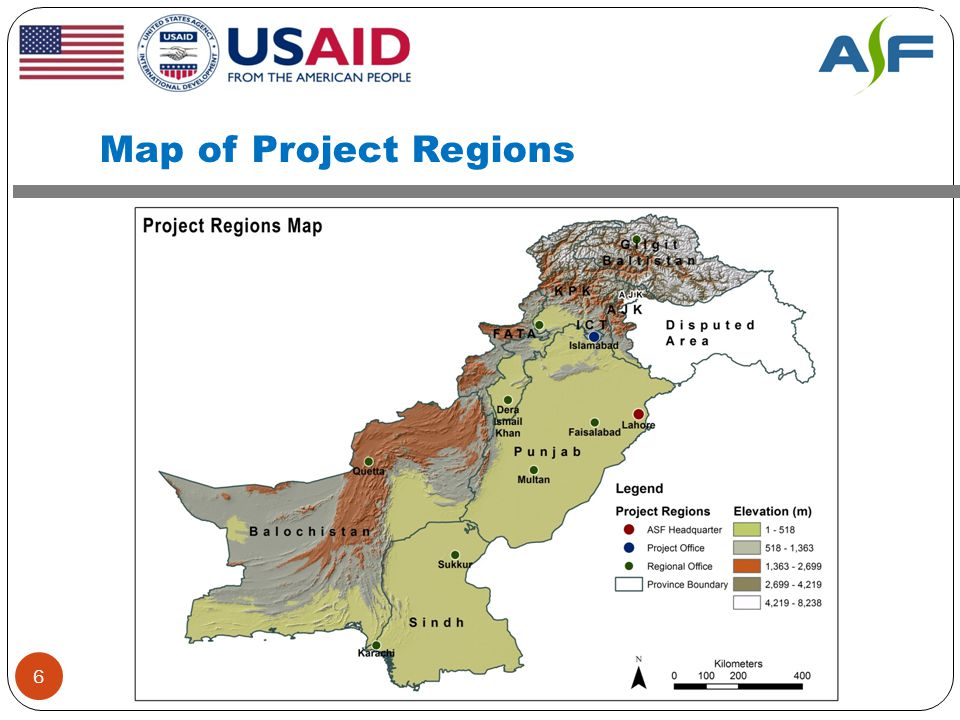 Map of Project Regions