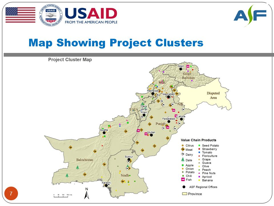 Map Showing Project Clusters