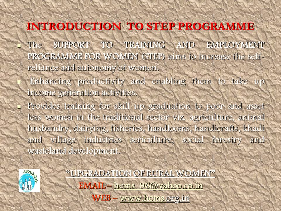 INTRODUCTION TO STEP PROGRAMME