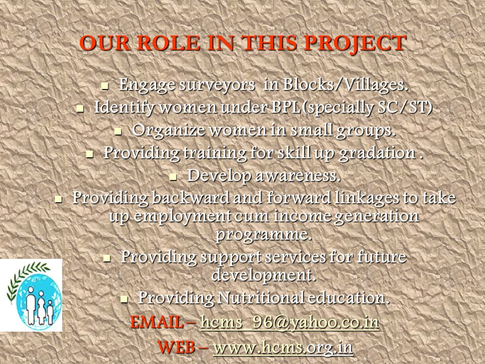OUR ROLE IN THIS PROJECT