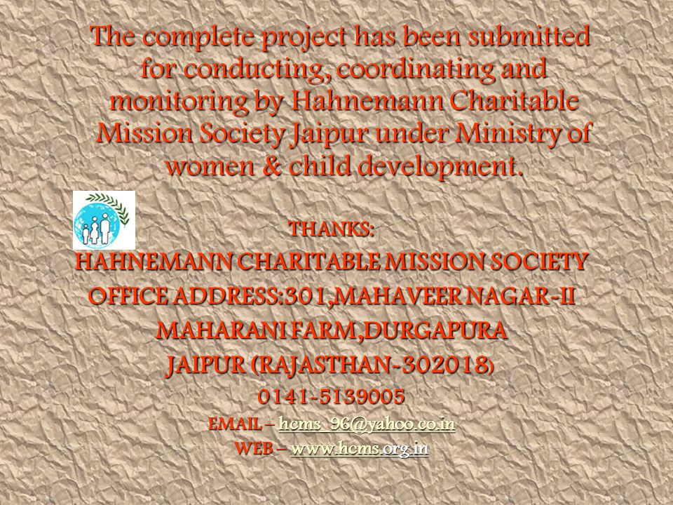 HAHNEMANN CHARITABLE MISSION SOCIETY