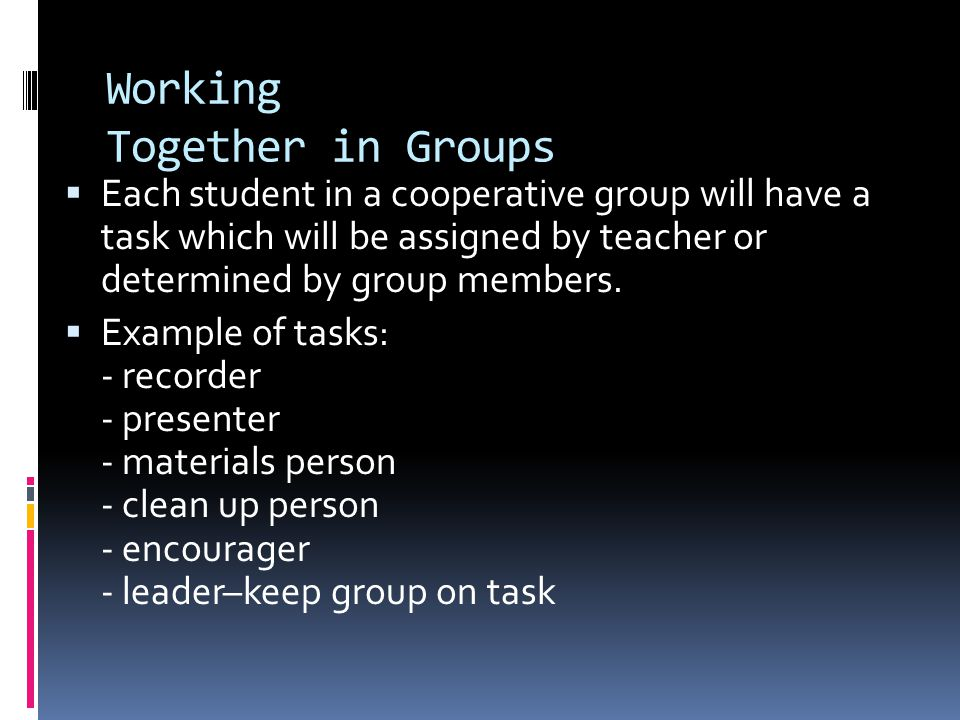 Working Together in Groups