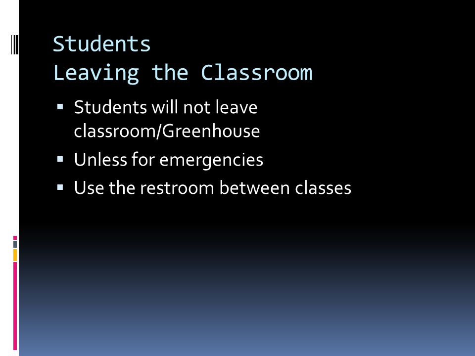 Students Leaving the Classroom