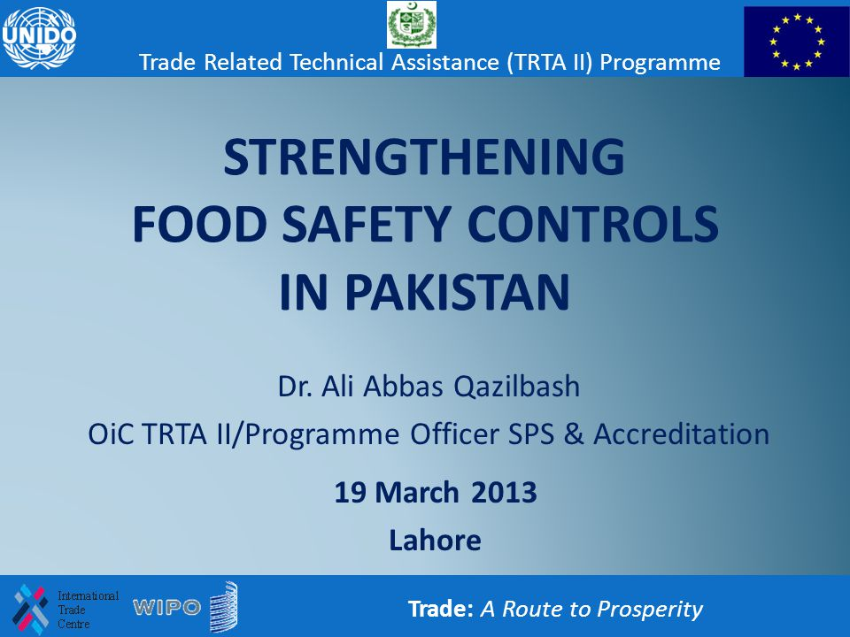 STRENGTHENING FOOD SAFETY CONTROLS IN PAKISTAN