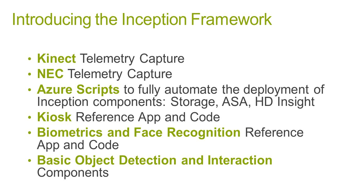 Introducing the Inception Framework