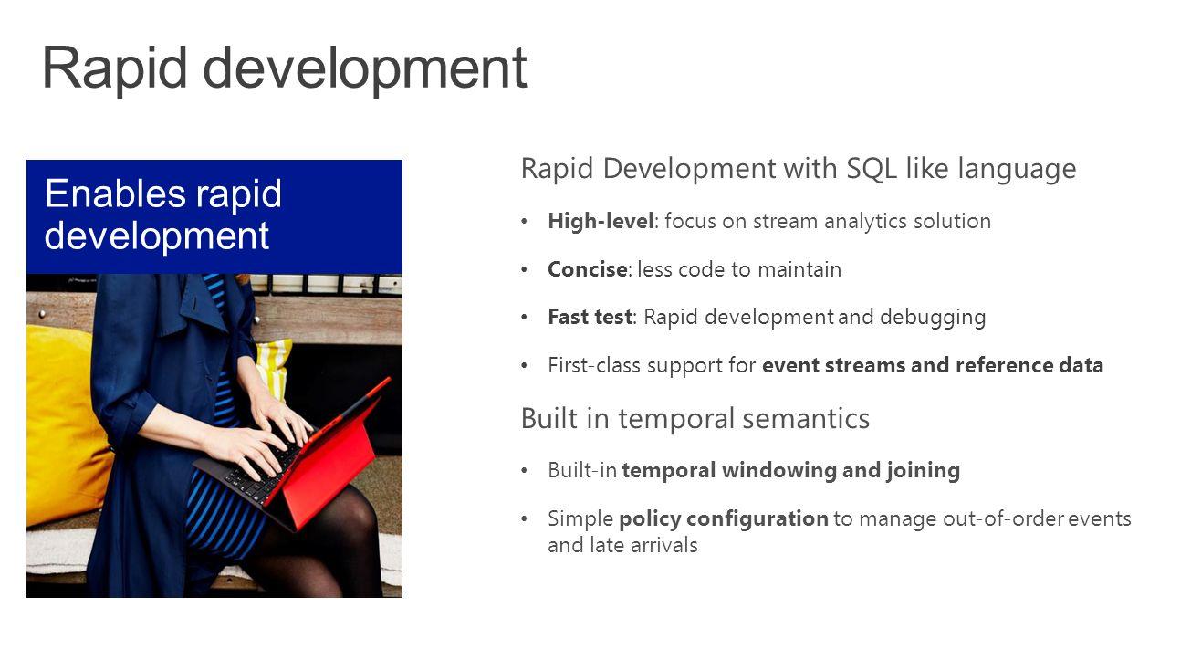 Rapid development Enables rapid development