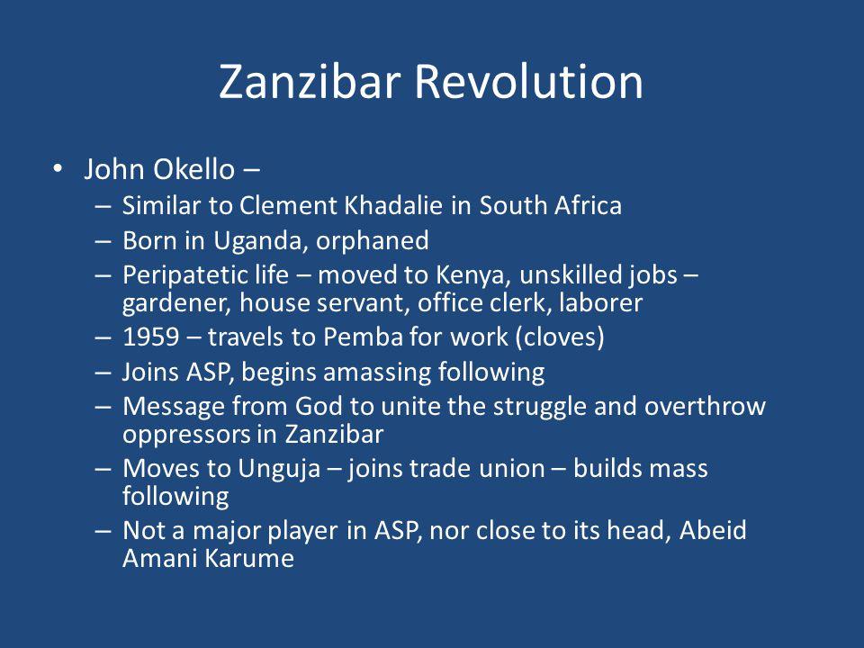 Zanzibar Revolution John Okello –