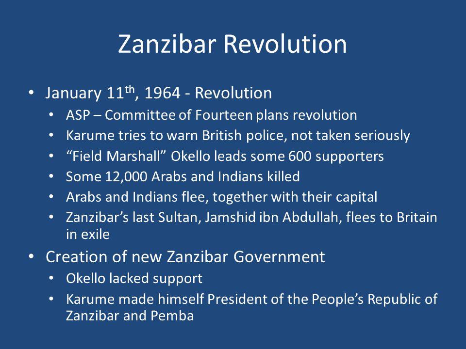 Zanzibar Revolution January 11th, 1964 - Revolution