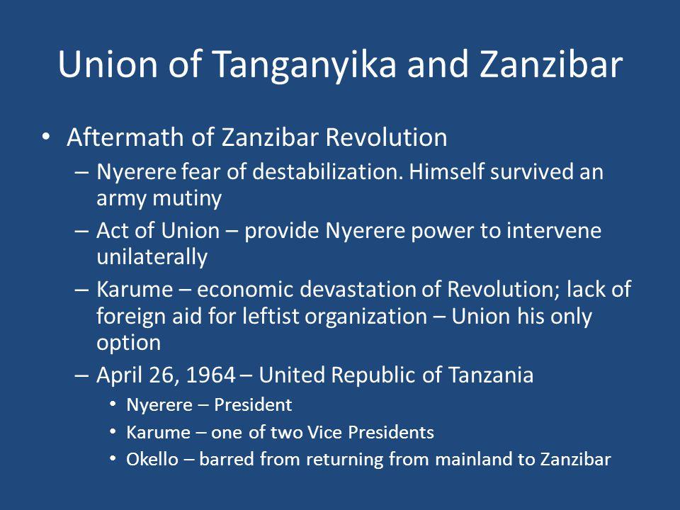 Union of Tanganyika and Zanzibar