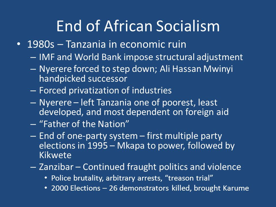 End of African Socialism