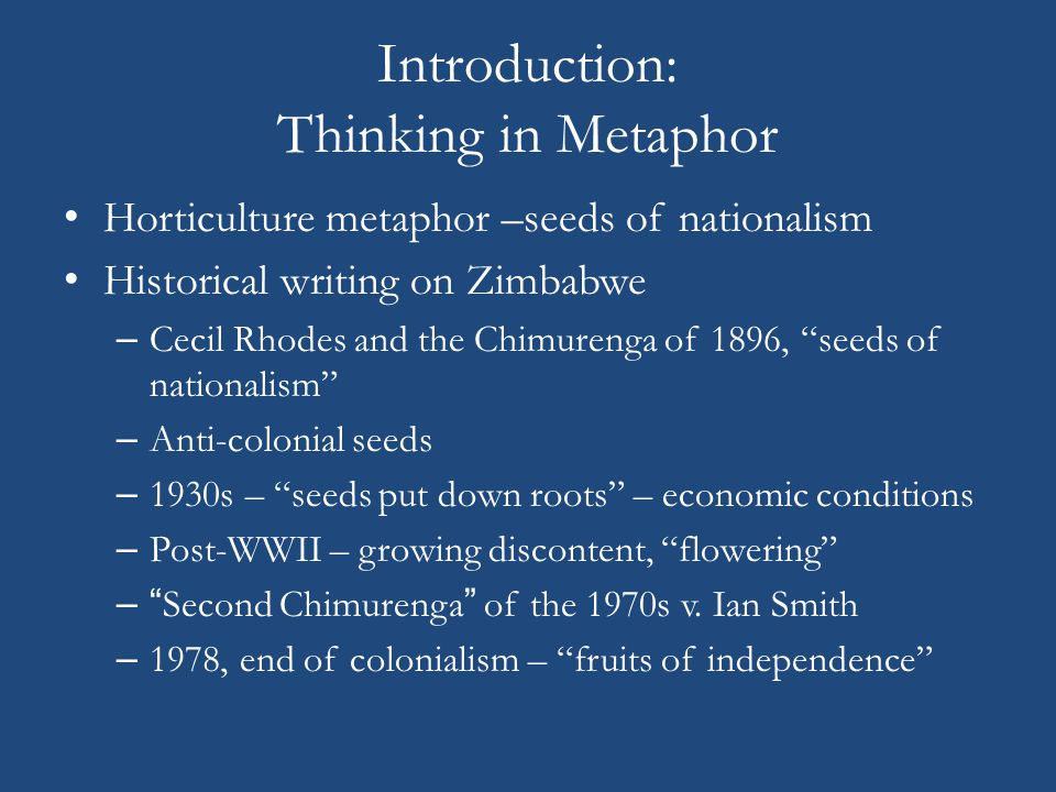 Introduction: Thinking in Metaphor