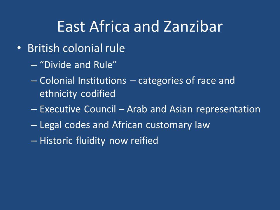 East Africa and Zanzibar