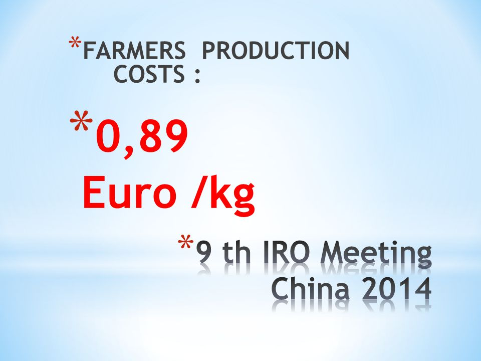 FARMERS PRODUCTION COSTS :