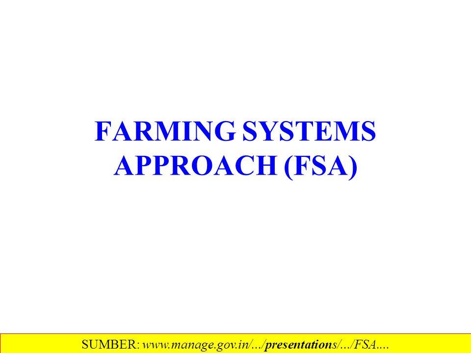 FARMING SYSTEMS APPROACH (FSA)