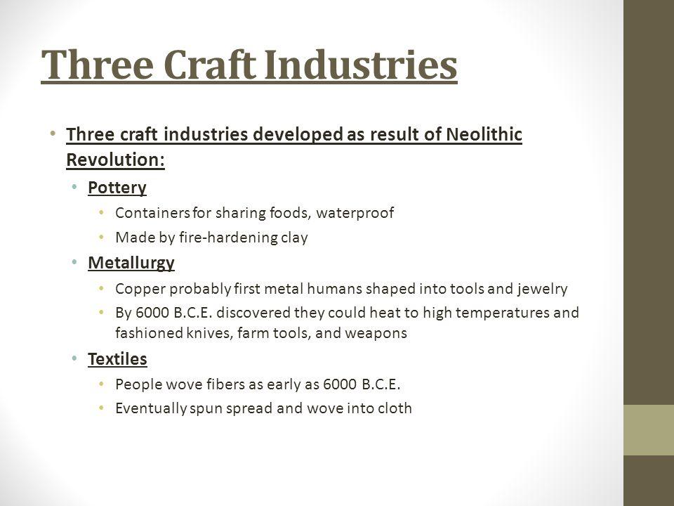 Three Craft Industries
