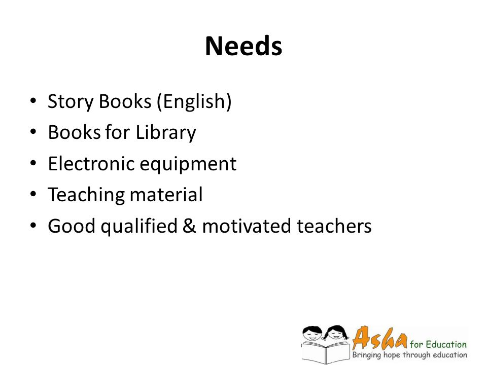 Needs Story Books (English) Books for Library Electronic equipment