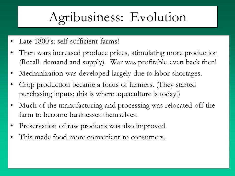 Agribusiness: Evolution