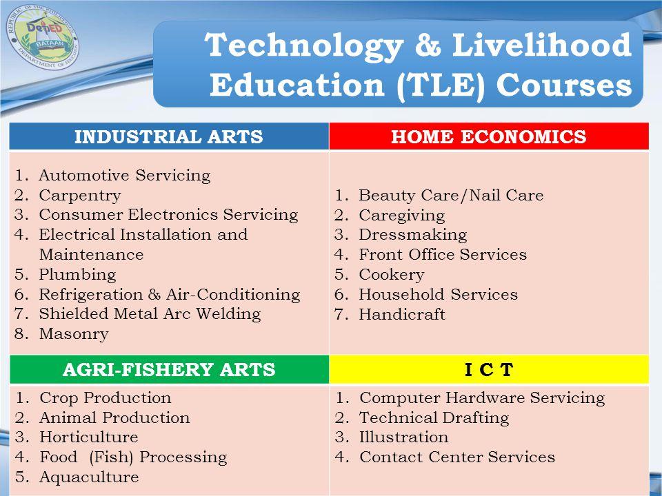 Technology & Livelihood Education (TLE) Courses