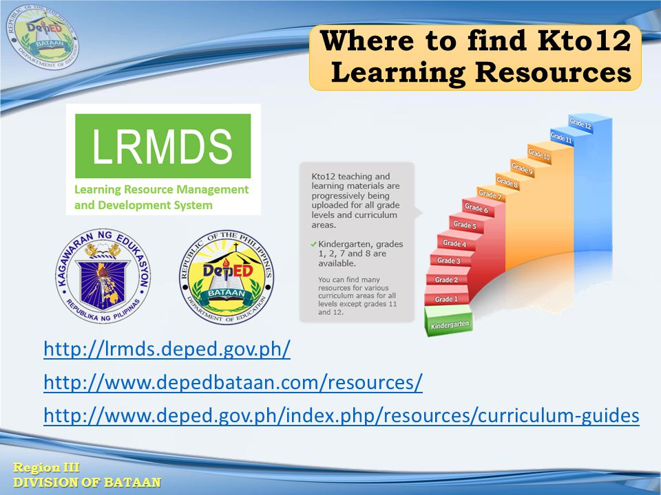 Where to find Kto12 Learning Resources
