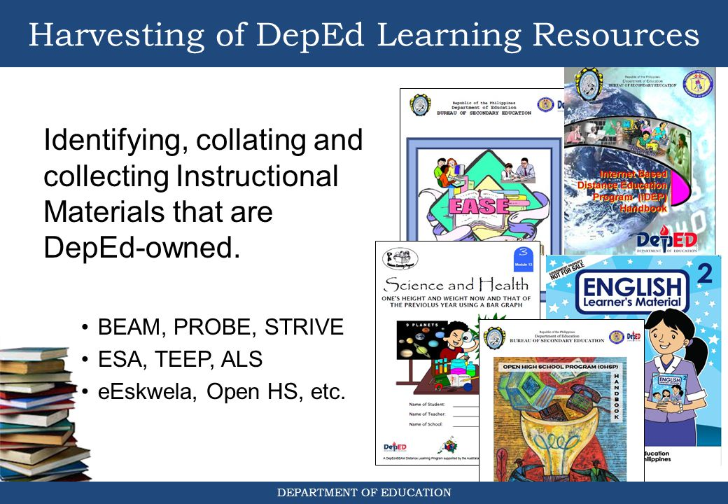 Harvesting of DepEd Learning Resources