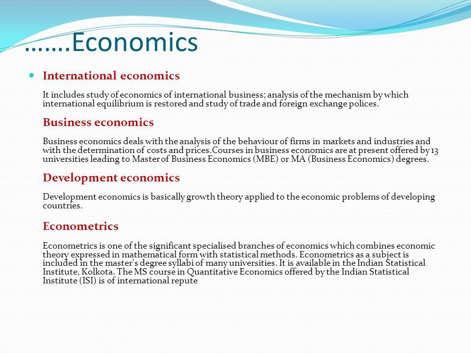 …….Economics
