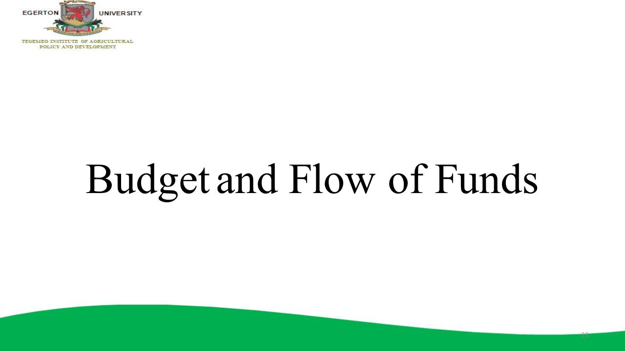 Budget and Flow of Funds