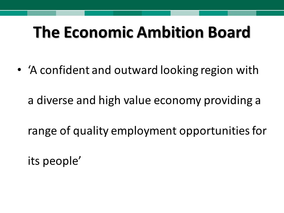 The Economic Ambition Board