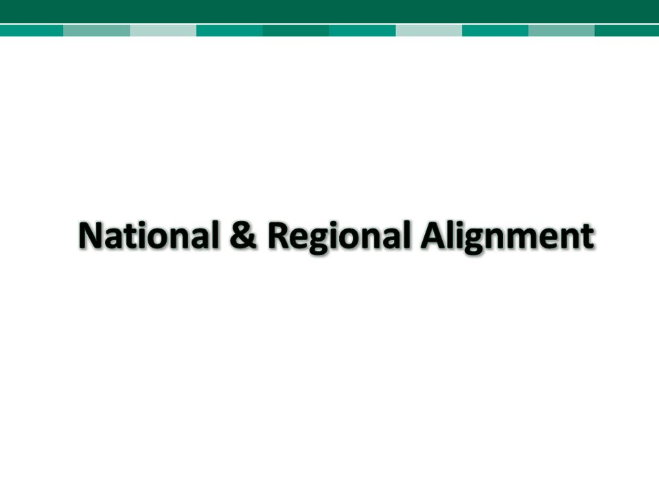 National & Regional Alignment
