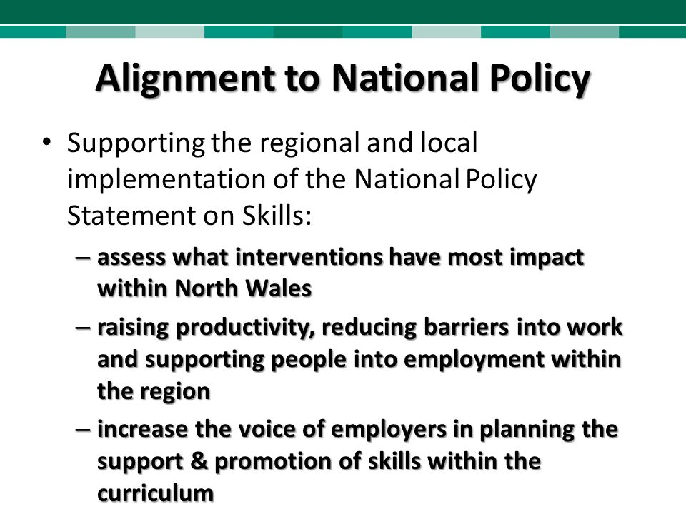 Alignment to National Policy