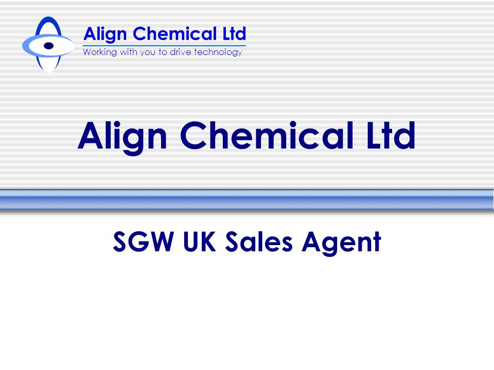 Align Chemical Ltd SGW UK Sales Agent
