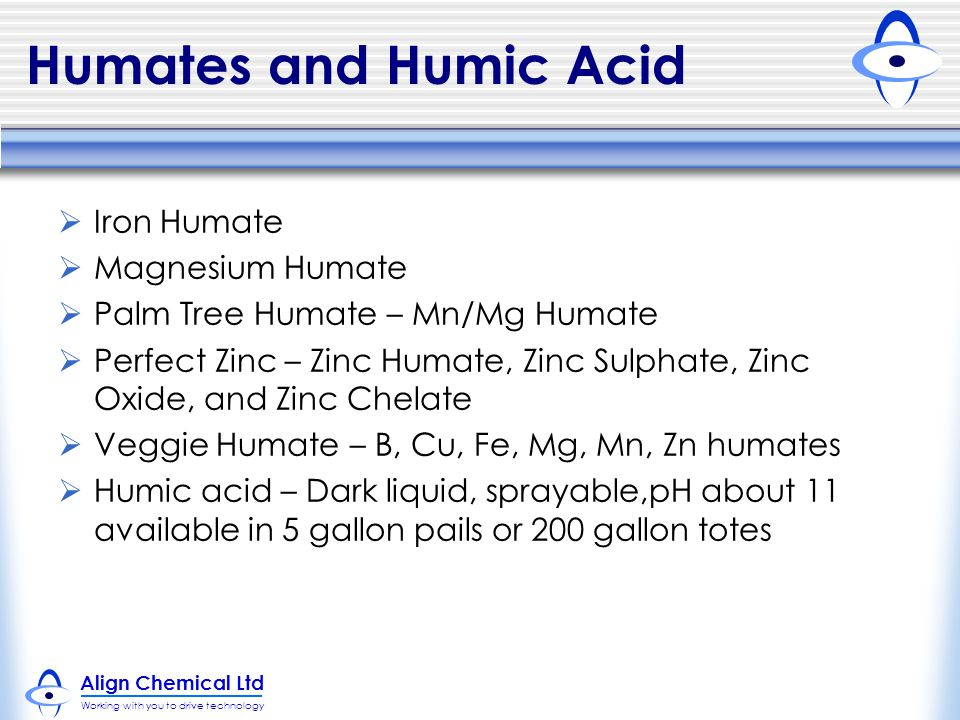 Humates and Humic Acid Iron Humate Magnesium Humate