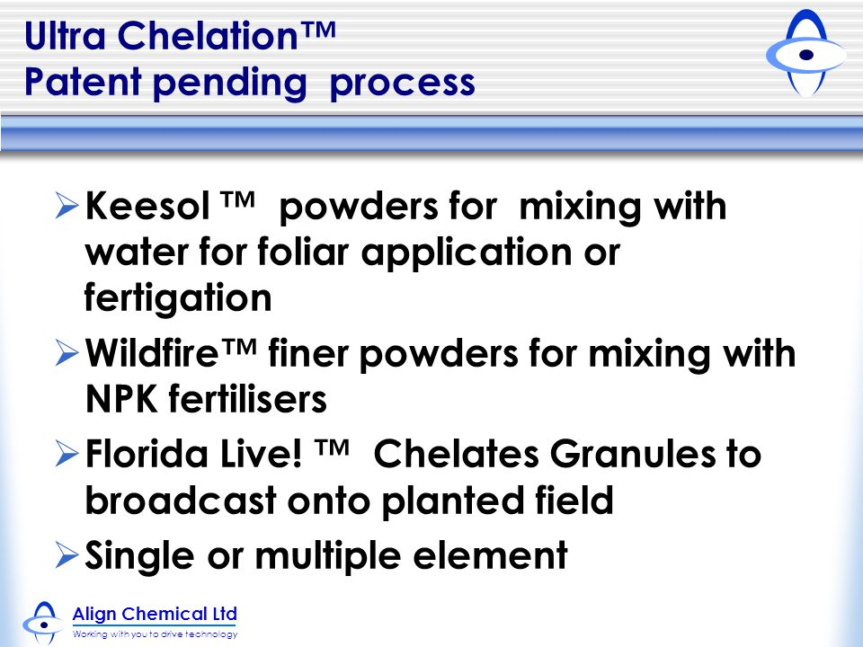 Ultra Chelation™ Patent pending process