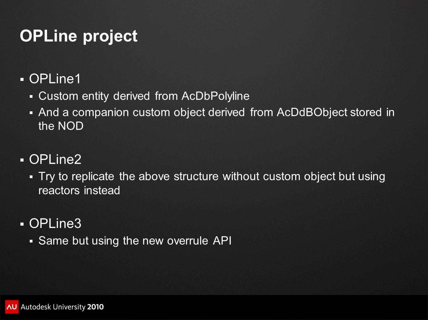 OPLine project OPLine1 OPLine2 OPLine3