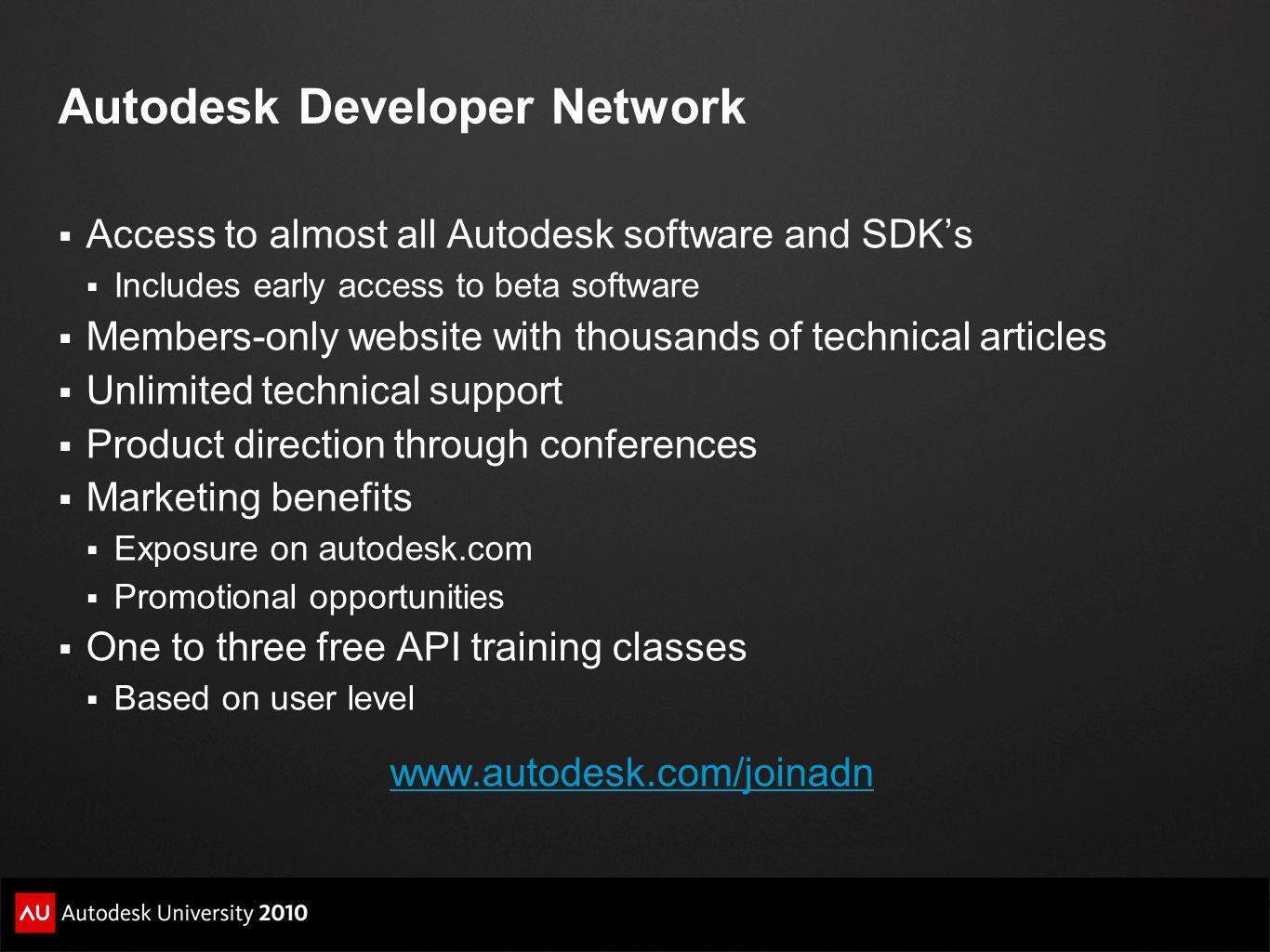 Autodesk Developer Network