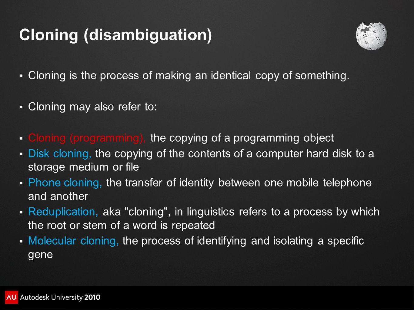 Cloning (disambiguation)
