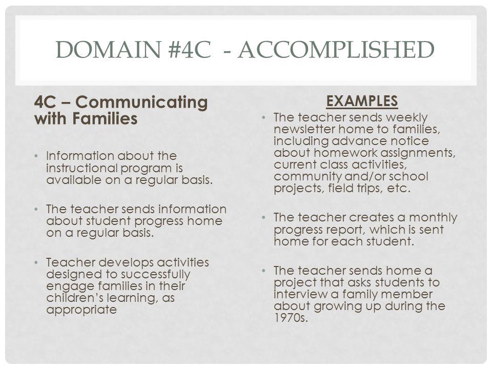 Domain #4c - Accomplished