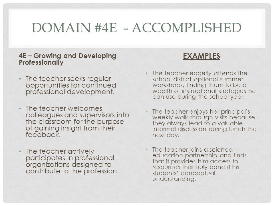 Domain #4e - Accomplished