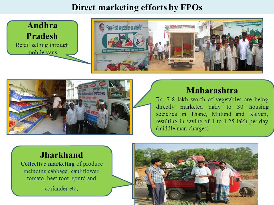 Direct marketing efforts by FPOs