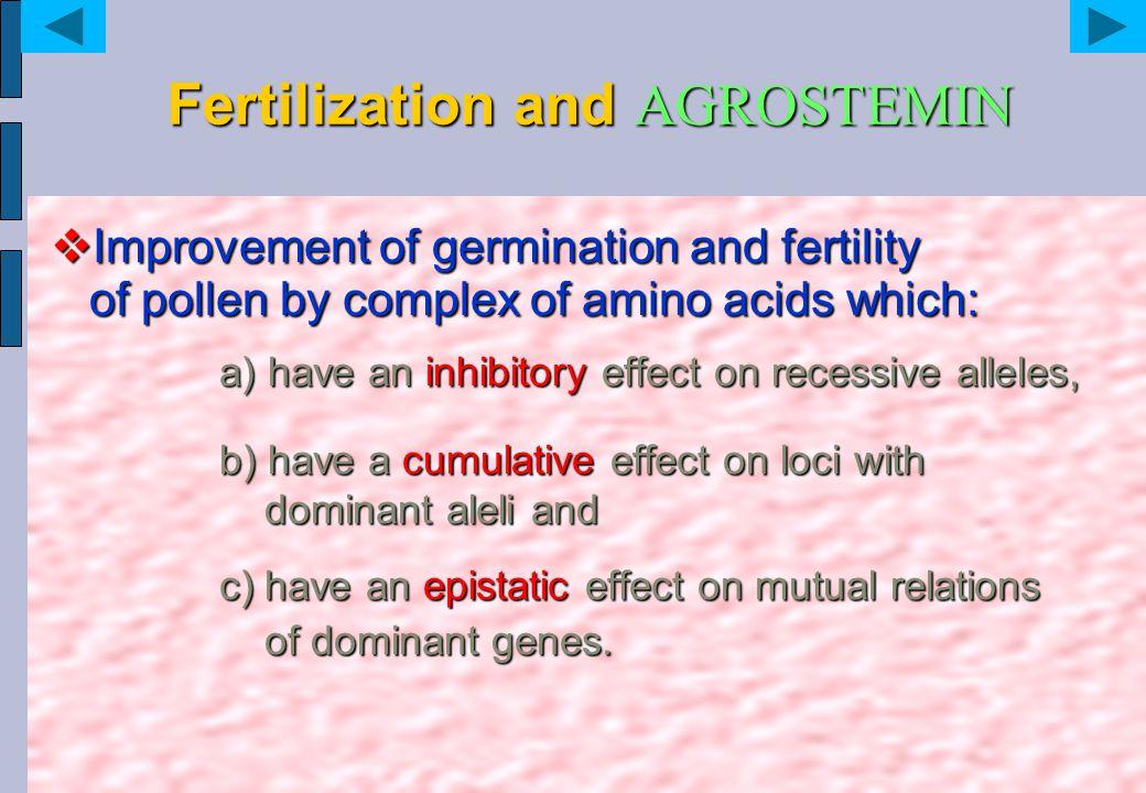 Fertilization and AGROSTEMIN