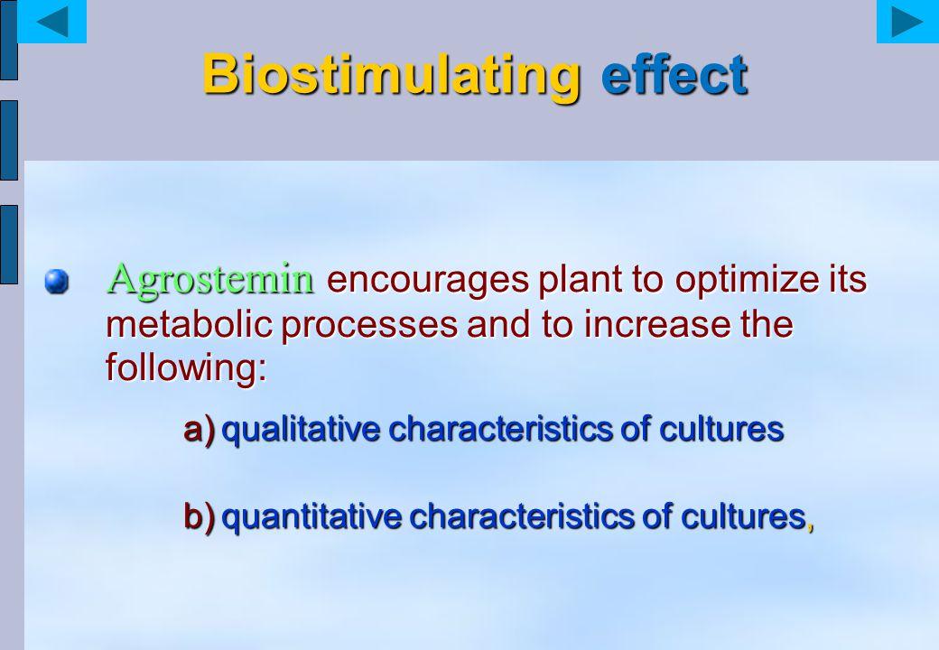 Biostimulating effect