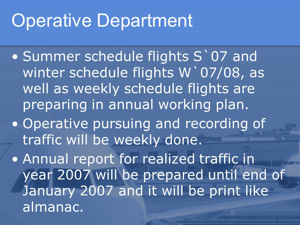 Operative Department