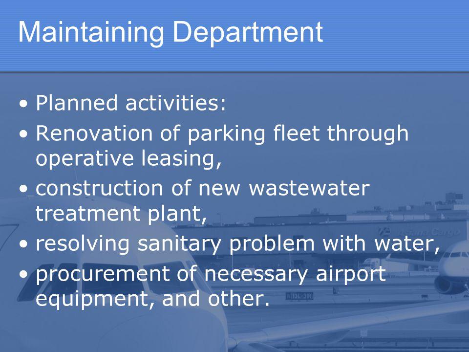 Maintaining Department