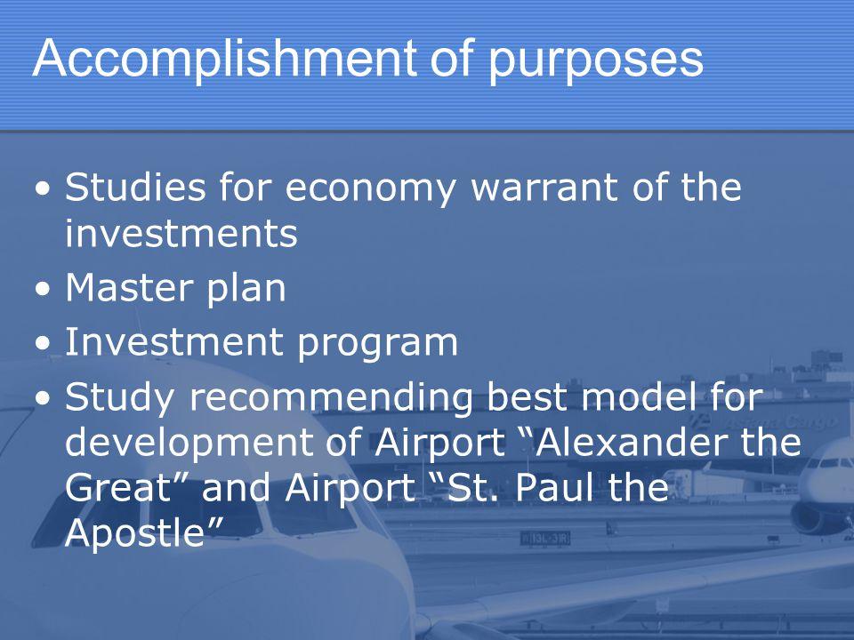 Accomplishment of purposes